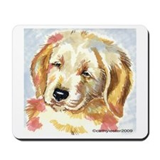 Golden Retriever puppy - head Mousepad