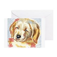 Golden Retriever puppy - head Greeting Card