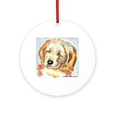 Golden Retriever puppy - head Ornament (Round)