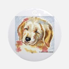 Golden Retriever puppy - head Ornament (Round)