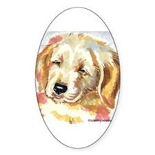 Golden Retriever puppy - head Oval Decal