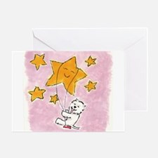 Westie swingin' on a star Greeting Card