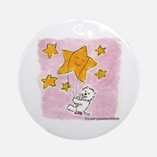 Westie swingin' on a star Ornament (Round)