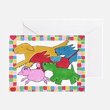 Herd 'o Dogs Greeting Card