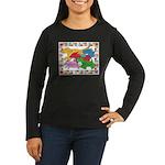 Herd 'o Dogs Women's Long Sleeve Dark T-Shirt