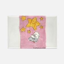 Old English Sheepdog Star Rectangle Magnet (10 pac