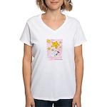 Terrier swingin' on a star Women's V-Neck T-Shirt
