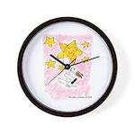 Terrier swingin' on a star Wall Clock