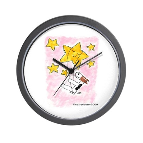 Terrier swingin' on a star Wall Clock