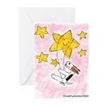 Terrier swingin' on a star Greeting Cards (Pk of 1