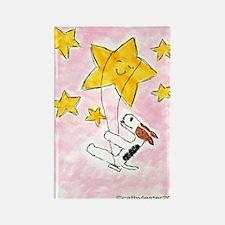 Terrier swingin' on a star Rectangle Magnet