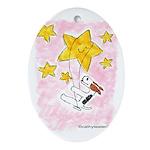 Terrier swingin' on a star Oval Ornament