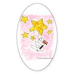 Terrier swingin' on a star Oval Sticker
