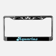 Retro Zodiac Aquarius License Plate Frame