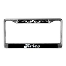 Retro Zodiac Aries License Plate Frame