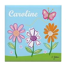 Caroline's Garden Tile Coaster