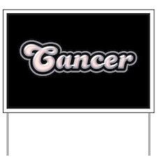 Retro Zodiac Cancer Yard Sign