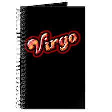 Retro Zodiac Virgo Journal