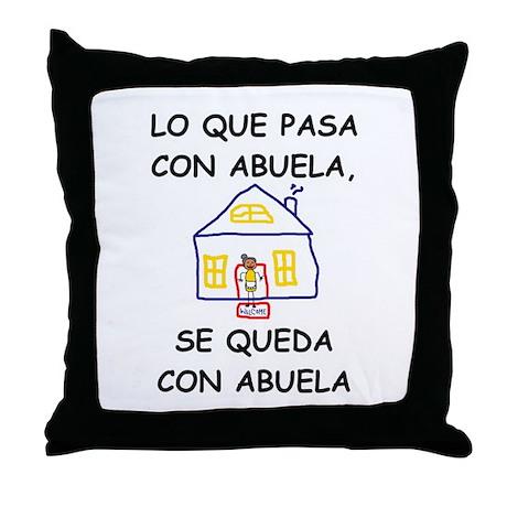 Con Abuela Throw Pillow