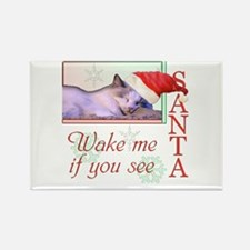 Wake Me If You See Santa Rectangle Magnet