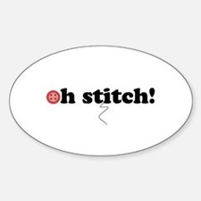 oh stitch! Oval Decal