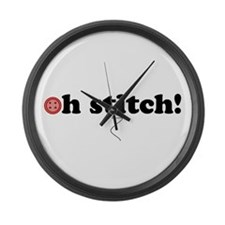 oh stitch! Large Wall Clock