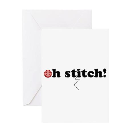 oh stitch! Greeting Card
