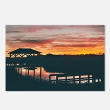 Pawleys Creek Sunset Postcards (Package Of 8)