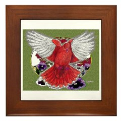 Flight Pigeon Etching Framed Tile