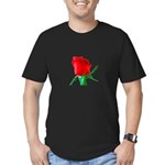 One Red Rose Men's Fitted T-Shirt (dark)