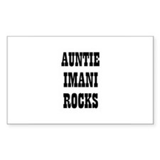 AUNTIE IMANI ROCKS Rectangle Decal