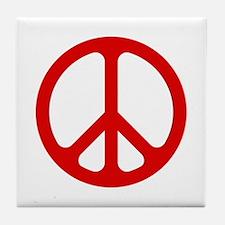 Red CND logo Tile Coaster