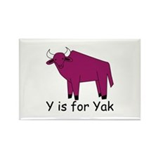 Y is for Yak Rectangle Magnet (10 pack)
