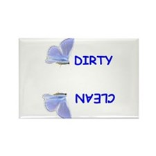 BLUE BUTTERFLY DISHWASHER Rectangle Magnet