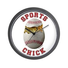 Baseball Chick 3 Wall Clock