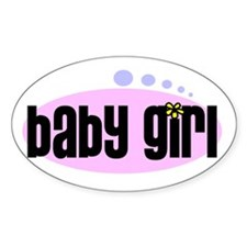 baby girl Oval Decal