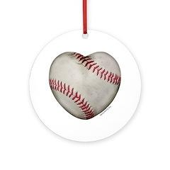 Baseball Love Ornament (Round)