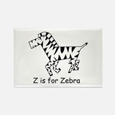 Z is for Zebra Rectangle Magnet