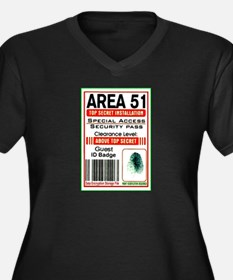 Cute Area 51 Women's Plus Size V-Neck Dark T-Shirt