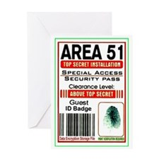 area51badge Greeting Cards