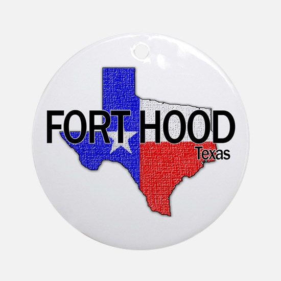 Fort Hood 2 Ornament (Round)