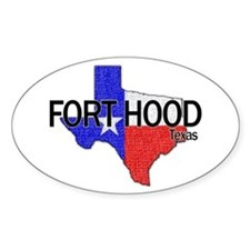 Fort Hood 2 Oval Decal
