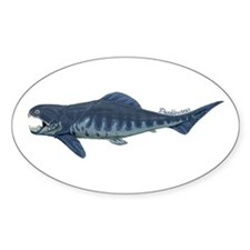 Dunkleosteus Oval Decal