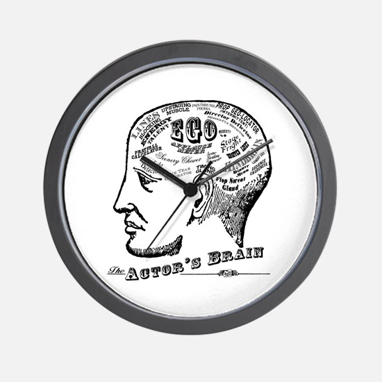 The Actor's Brain Wall Clock