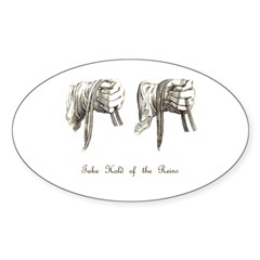 Take Hold of the Reins Oval Decal
