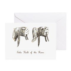 Take Hold of the Reins Greeting Cards (Package of
