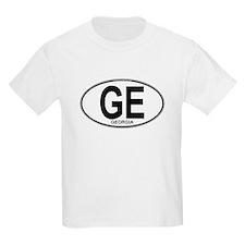 Georgia Euro Oval (plain) T-Shirt