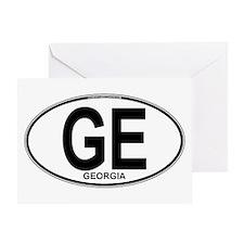 Georgia Euro Oval (plain) Greeting Card