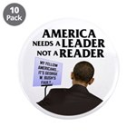 "And Barack Obama - Reader not 3.5"" Button (10 pack"