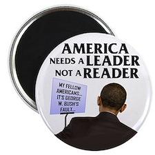"""And Barack Obama - Reader not 2.25"""" Magnet (1"""